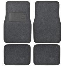 Supreme Plush 4 Piece High Quality Carpet Auto Car Floor Mats Solid Dark Gray
