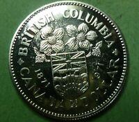 Canadian Dollar British Columbia 1871 1971 Uncirculated  #CDBC