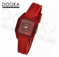 DOOKA  Rocky Thin Unisex Red Silicone Rubber Watch T019X