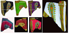 LOT OF 7 INDIAN BAGGY GYPSY HAREM PANTS YOGA MEN WOMEN AFRICAN PRINT TROUSER