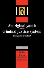 Aboriginal Youth and the Criminal Justice System : The Injustice of Justice?...