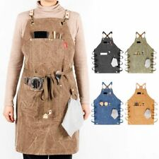 Chef Kitchen Aprons Thick Canvas Coffee Shop Barber Working Hairdressing Uniform