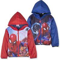 Spiderman Marvel Boys Polar Fleece Lined Warm Jacket Coat All Season 2-8 Years
