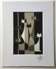 EL GATO GOMEZ RETRO VINTAGE MID CENTURY MODERN EAMES ERA ABSTRACT MOD CAT 1950'S
