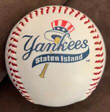 2002 New York Penn League Champions SGA Baseball Staten Island Yankees Logo Ball