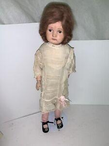 """Antique Schoenhut Doll- 22"""" Vintage"""