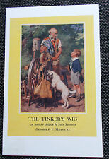 Collectable Vintage Ladybird Book Cover Postcard-The Tinker's Wig -1947series478