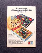 K728- Advertising Pubblicità -1980- APEMAIA EG, COME IN TV
