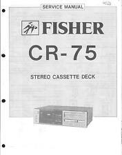 Fisher Original Service Manual für CR-75