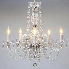 "AUTHENTIC ALL CRYSTAL CHANDELIER CHANDELIERS LIGHTING 24"" X 25"""