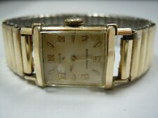 Ladies Elgin Shockmaster 10kt RGP Bezel Watch