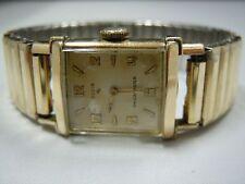 Ladies Elgin Shockmaster 10kt RGP Bezel Watch