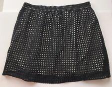Ann Taylor Loft Women's Skirt XL Black Textured Above Knee Juniors Business