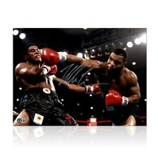 More details for mike tyson signed boxing photo: becoming world champion