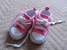 Converse All Star Pink Baby Boots Shoes - Size 2