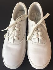 Womens Casual Grasshoppers Sneakers White Laces Up Shoes Sz 6.5 Medium Walking