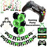 Gaming Party Supplies, Boys Birthday Decorations, Balloons, Banner, Cake Toppers