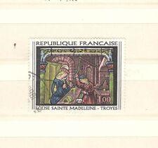 FRANCIA 1531 - VETRATA TROYES MADDALENA 1967 - MAZZETTA DI 5  USATO - VEDI FOTO