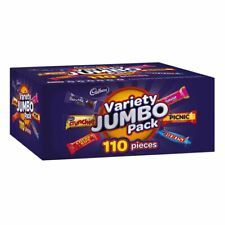 Cadbury Variety Jumbo Pack 110 Pieces 1.68kg Box Crunchie Picnic Boost Chocolate