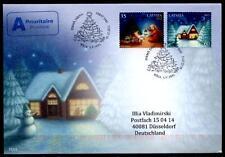 Weihnachten. FDC-Brief nach BRD. Lettland 2012