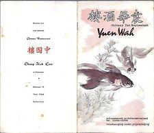 Speisekarte - Yuen Wah - Rotterdam Chinees Ind. Restaurant Holland Chong Kok Low