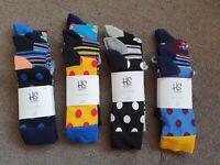 Original Happy Socks Unisex Cotton 12 Pairs New Men/women Size 7.5-11.5 41-46