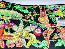 Lumaseries Blacklight Wallpaper Border 4.5 Yards Jungle Parrot Monkey Snake Teen
