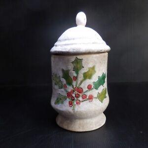 Poterie céramique faïence récipient vintage art nouveau fait main France N7635