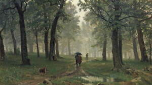 Ivan Shishkin Forest Poster Reproduction Paintings Giclee Canvas Print