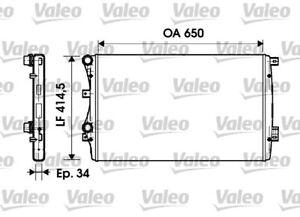 Valeo Radiator 732872 fits Volkswagen Beetle 1.4 TSI