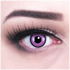 Coloured Contact Lenses Black Purple Contacts Color Carnival Halloween