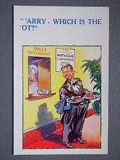 R&L Postcard: Comic, HB 6046 Restaurant Waiter Chef, Harry