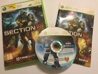 PAL XBOX 360 GAME SECTION 8 / EIGHT / VIII +BOX & INSTRUCTIONS COMPLETE