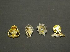 British Military Army Pin Lapel Badges x 4 Staffordshire B.Watch Queens Irish