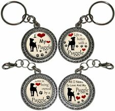 Puggle Dog Key Ring Purse Charm Zipper Pull Key Chain Handmade Gift