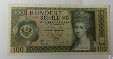 More details for 1969 (1970) austria 100 schilling banknote   vf+ p-145a