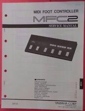 Original Yamaha MFC2 MIDI Foot Controller SERVICE Manual
