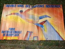AFFICHE FOLON FOIRE DE BORDEAUX 1982
