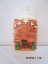 Dekoration, Flasche, Deko-Flasche, Weihnachtsmotiv, Handarbeit