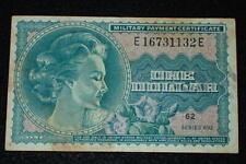 Vietnam War US MPC Military Payment Certificate $1 Dollar Series 692 Good Orig.