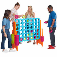 ECR4Kids Jumbo 4-To-Score Giant Game-Indoor/Outdoor 4-In-A-Row for Kids & Adults