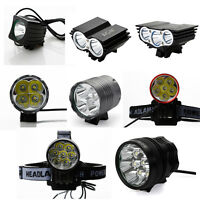 LED Fahrradbeleuchtung 1-8 LED Fahrradlampe Fahrradlicht Fahrradleuc + Akku