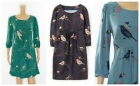 ex Boden Bird Print Casual Versatile Tunic Tea Dress