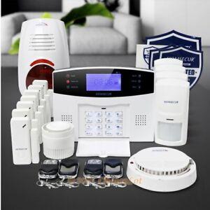 HOMSECUR Système d'Alarme Sécurité Maison sans Fil&filaire GSM-2G voix française