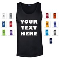 WOMEN'S PERSONALIZED CUSTOM PRINT YOUR OWN TEXT ON A TANK TOP CUSTOMIZED