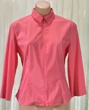 CUE SIZE 10 FITTED ZIP UP BLOUSE