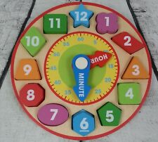 Melissa & Doug Shape Sorting Clock Educational Wooden Toy for Ages 3 and up