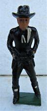 Vintage Cast Iron Hoppy Hopalong Cassidy Cowboy Figure Nos New Old Stock