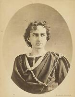 c. 1860's Edwin Booth (John Wilkes Booth brother) NYC Advertising Cabinet Photo