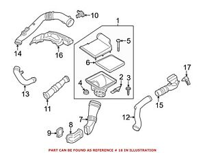 For BMW Genuine Air Cleaner Cover Right 11127609461
